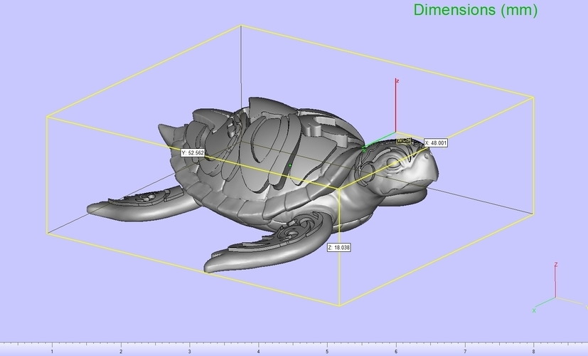 Turtle with Tiki Mask Ornament 3D Print 244590