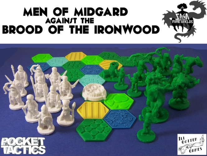 Pocket-Tactics Men of Midgard 3D Print 2446