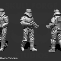 Small Motor Trooper 3D Printing 244626