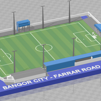 Small Bangor City - Farrar Road (1920-2011) 3D Printing 244665
