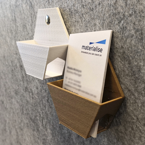 Hex Business Card Holder Tiles 3D Print 244758