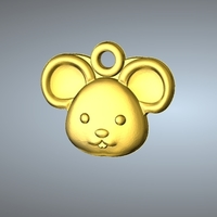 Small Q1 TYPE 01-MOUSE PENDANT 3D Printing 244759