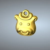 Small Q1 TYPE 02-COW PENDANT 3D Printing 244760