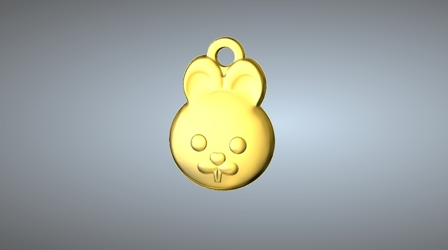 Q1 TYPE 04-RABBIT PENDANT 3D Print 244762