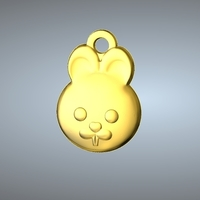Small Q1 TYPE 04-RABBIT PENDANT 3D Printing 244762