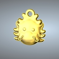 Small Q1 TYPE 05-DRAGON PENDANT 3D Printing 244763