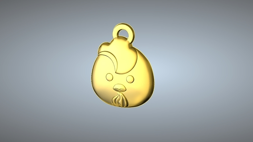 Q1 TYPE 10-CHICKEN PENDANT 3D Print 244768