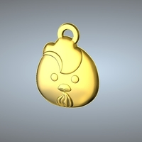Small Q1 TYPE 10-CHICKEN PENDANT 3D Printing 244768