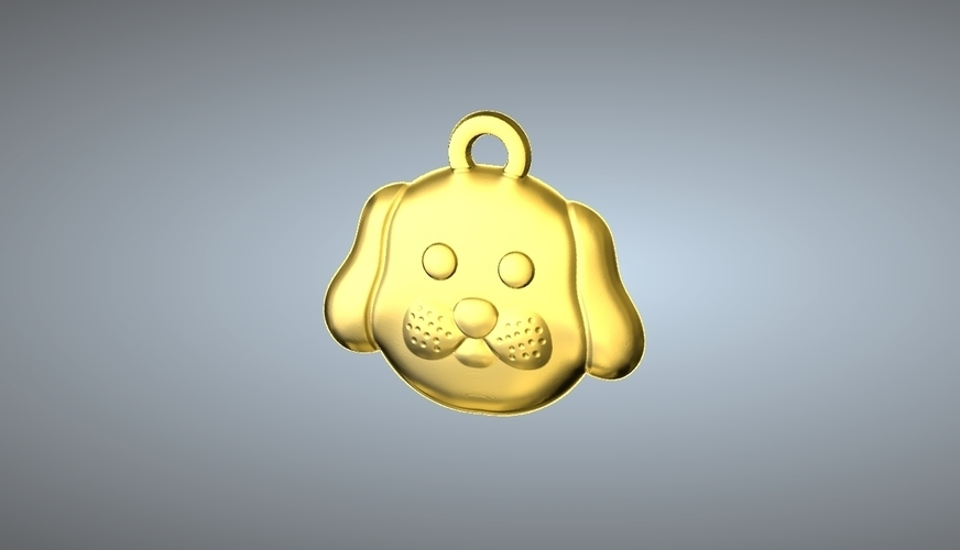 Q1 TYPE 11-DOG PENDANT 3D Print 244769