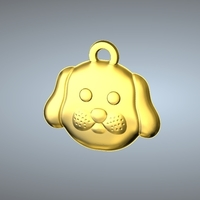 Small Q1 TYPE 11-DOG PENDANT 3D Printing 244769