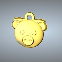 Small Q1 type 12-Pig pendant 3D Printing 244771