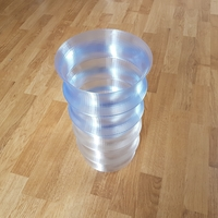 Small Trashcan 'Wave' 3D Printing 244794