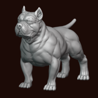 Small American Bully 3D Printing 244975