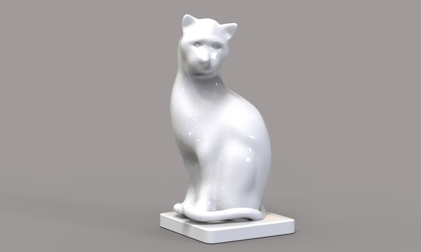 Cat Figurine  3D Print 245015