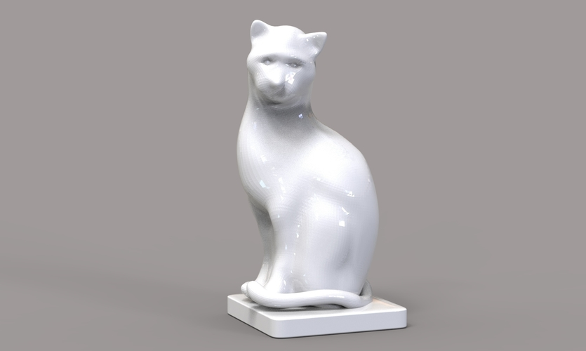 Cat Figurine  3D Print 245016