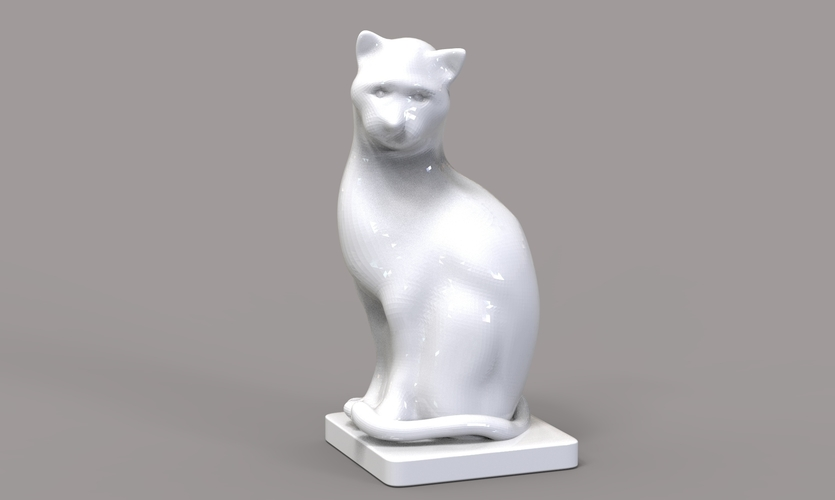 Cat Figurine  3D Print 245017