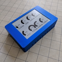 Small Case for Hit Point Tracker with E-Ink Display 3D Printing 245037