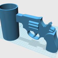 Small Cup with Gun Handle 3D Printing 24506