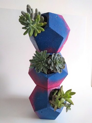 Dodecahedron Concrete Planter Mold (Harom Farkas) 3D Print 245067