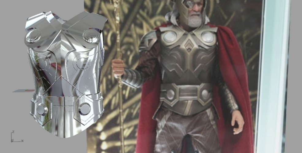 MCU ODINS ARMOR FROM THOR MOVIE 3D PRINT MODEL 3D Print 245088