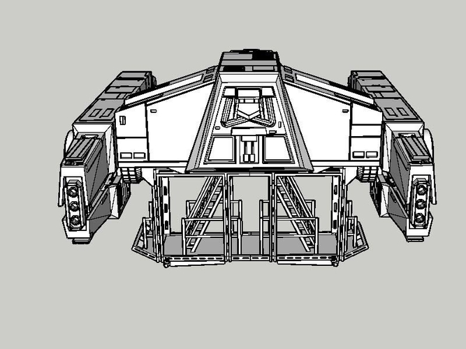 At Hauler 3.75 model for use with star wars hasbro line 3D Print 245157