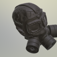Small Gas Mask Skull 3D Printing 245163
