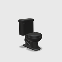 Small Dollhouse Miniature Toilet 1:48, 1:24, 1:12 and 1:6 Scale  3D Printing 245216