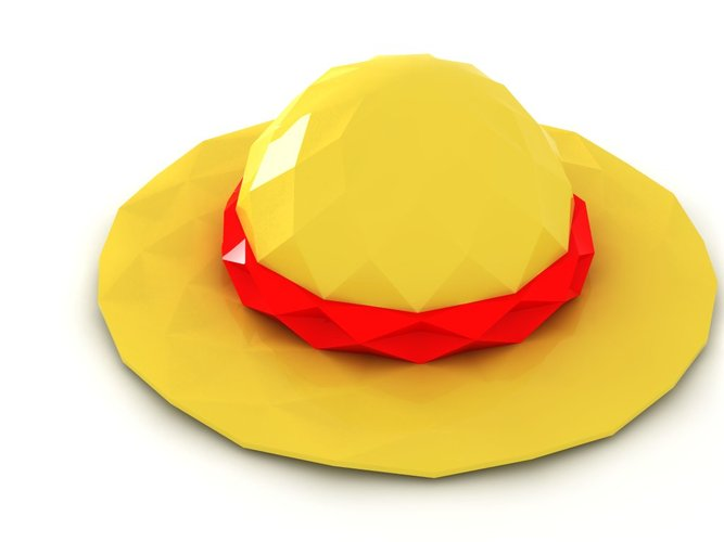 Poly Luffy's Hat 3D Printing 24524