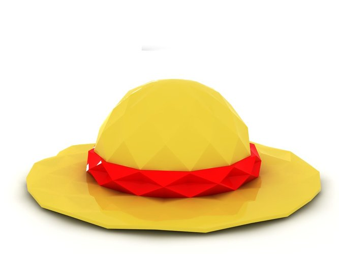 Poly Luffy's Hat 3D Printing 24525