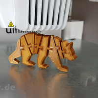 Small Flexi Articulated Bear 3D Printing 245517