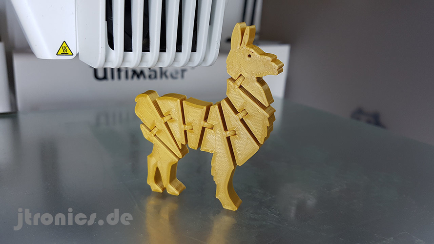 Flexi Articulated Lama 3D Print 245519