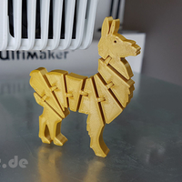 Small Flexi Articulated Lama 3D Printing 245519