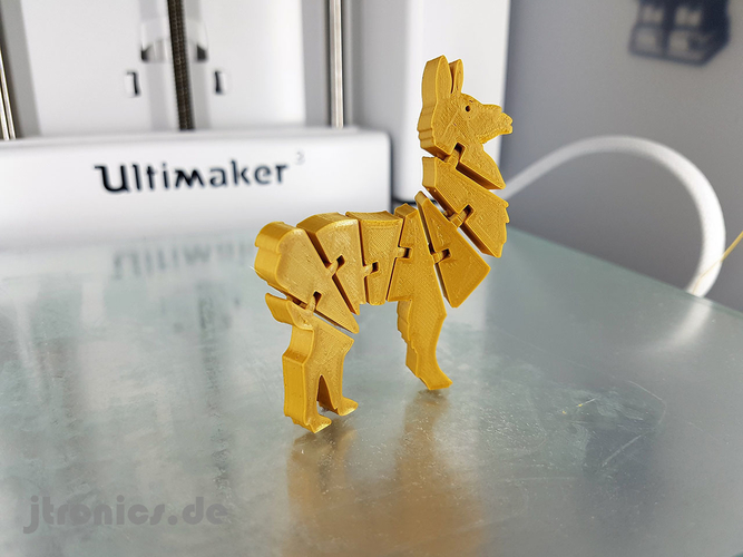Flexi Articulated Lama 3D Print 245520