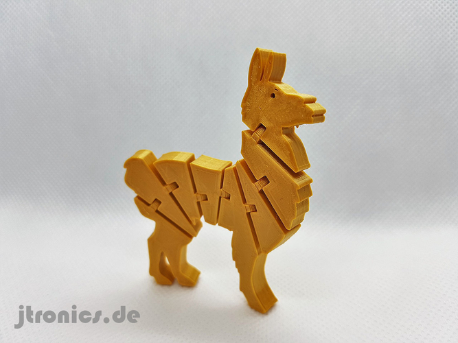 Flexi Articulated Lama 3D Print 245521