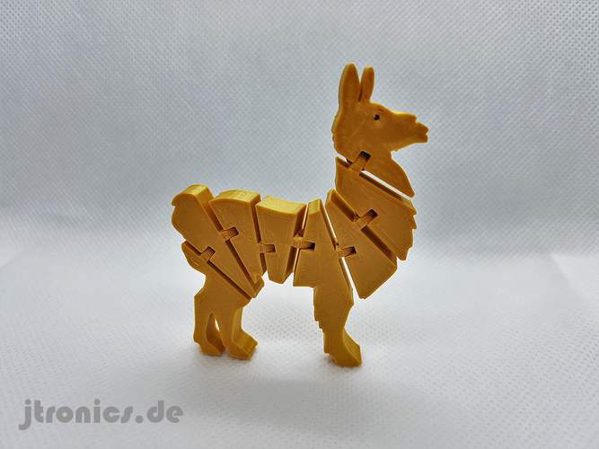 Flexi Articulated Lama 3D Print 245522