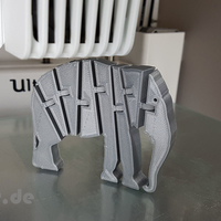 Small Flexi Articulated Elephant 3D Printing 245523