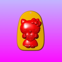 Small Kitty Key ring pendant 1-3 3D Printing 245552