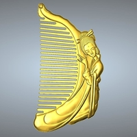 Small Beauty comb 2 3D Printing 245628