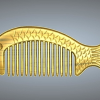 Small fish comb 2 3D Printing 245645