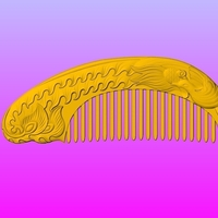 Small Single phoenix comb 3D Printing 245659