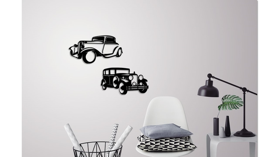 Classic cars wall decoration 3D Print 245687