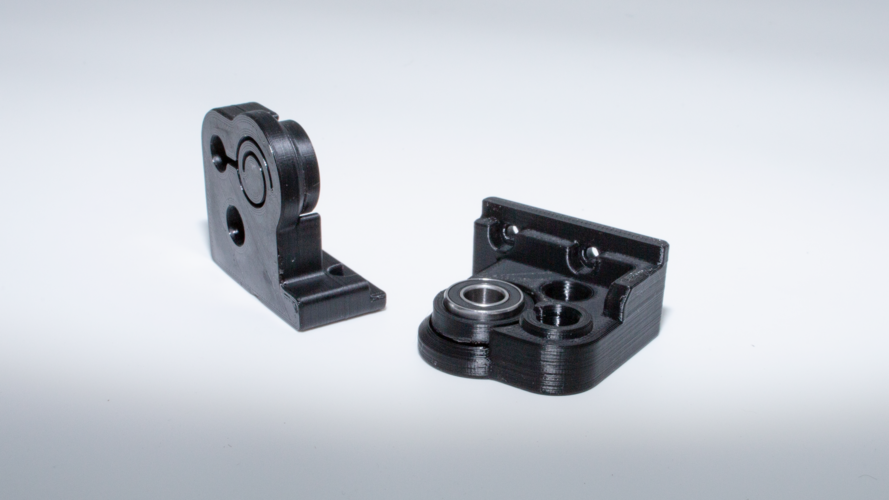 Z axis bracket with Floating Helix Driveshaft Bearing 3D Print 245696