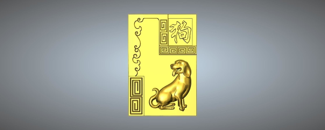 Textured Chinese zodiac 3D Print 245736