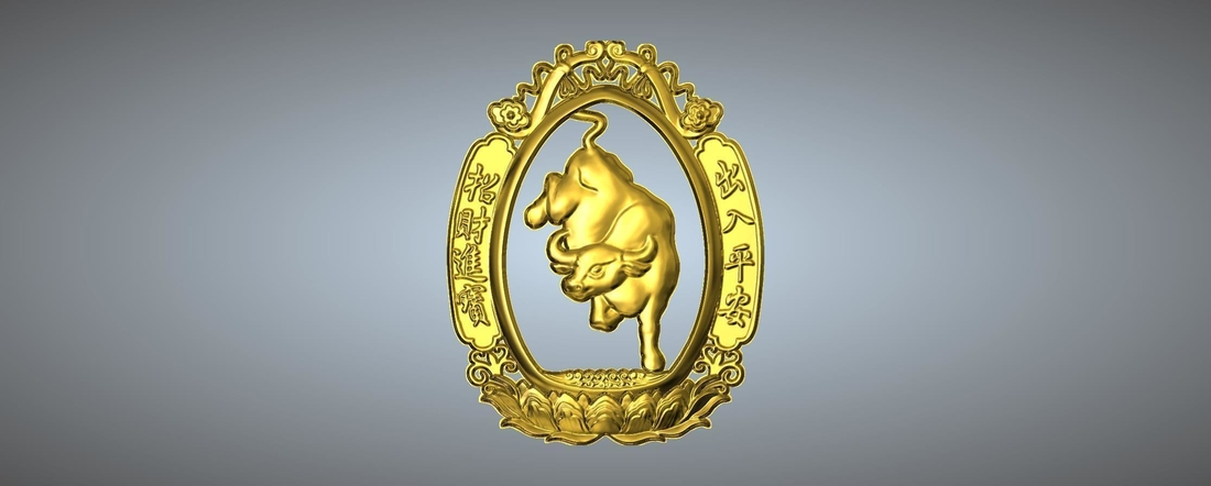 Money and money Chinese zodiac  3D Print 245739