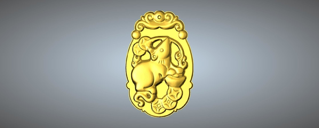 Jade carving Chinese zodiac 3D Print 245762