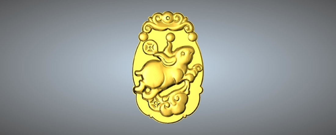 Jade carving Chinese zodiac 3D Print 245765