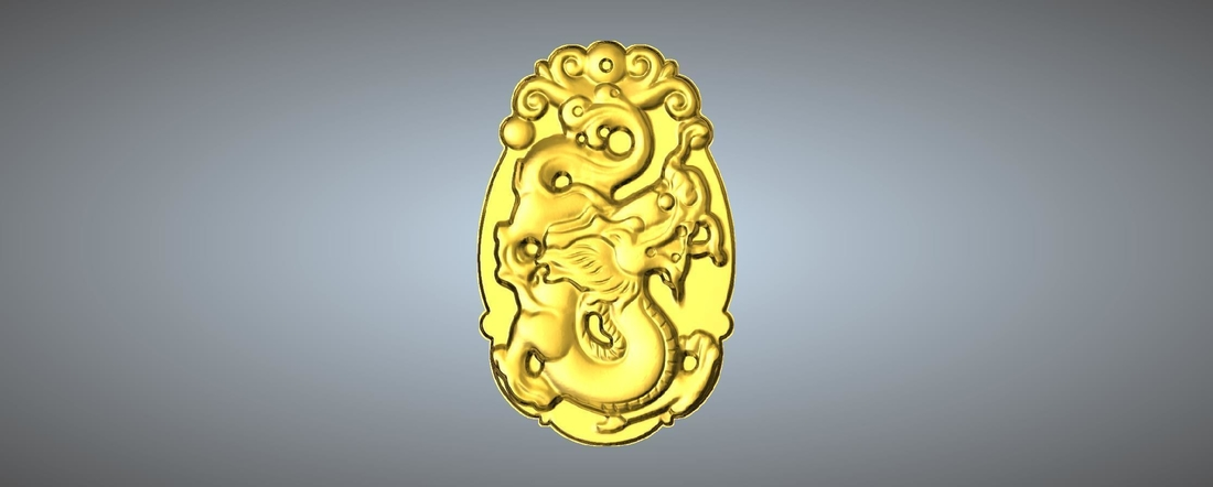 Jade carving Chinese zodiac 3D Print 245766
