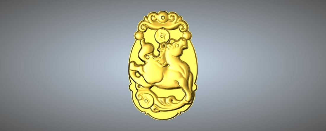 Jade carving Chinese zodiac 3D Print 245768
