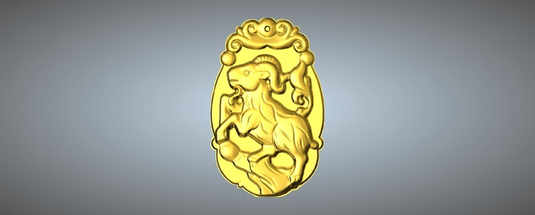 Jade carving Chinese zodiac 3D Print 245769