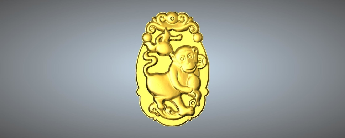 Jade carving Chinese zodiac 3D Print 245770